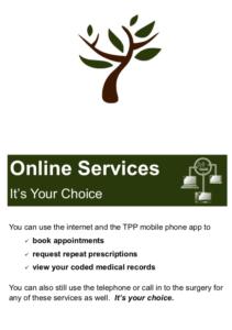 Online Services Leaflet
